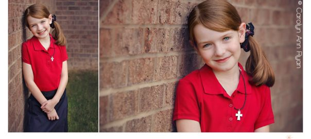 Experienced Charlotte NC Family Photographer takes Back to School portraits for first day of school
